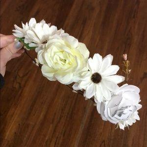 Cute White Flower Crown